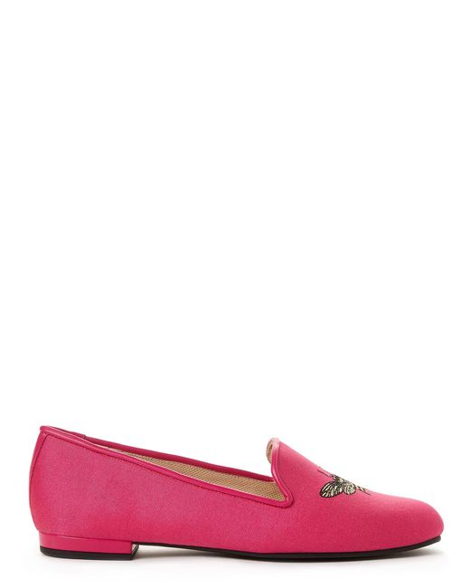 783597b769e ... Jon Josef - Multicolor Fuchsia Bee Happy Linen Loafers - Lyst ...