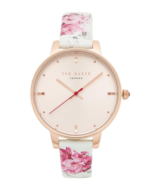 Ted Baker Multicolor Rose Gold-tone Watch & Interchangeable Strap Set