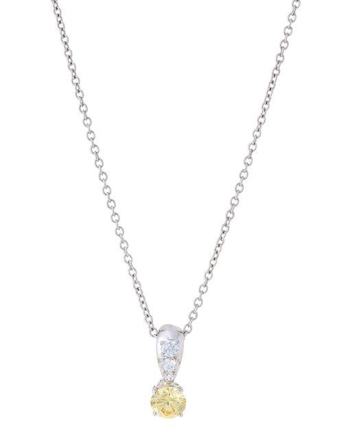 Fantasia by Deserio - Multicolor Silver-tone & Yellow Pendant Necklace - Lyst