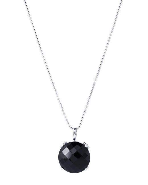 Anzie - Multicolor Rhodium-plated & Onyx Dew Drop Mini Cluster Necklace - Lyst