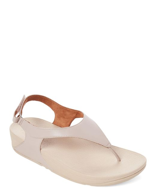 Fitflop Brown Taupe Skylar Thong Sandals