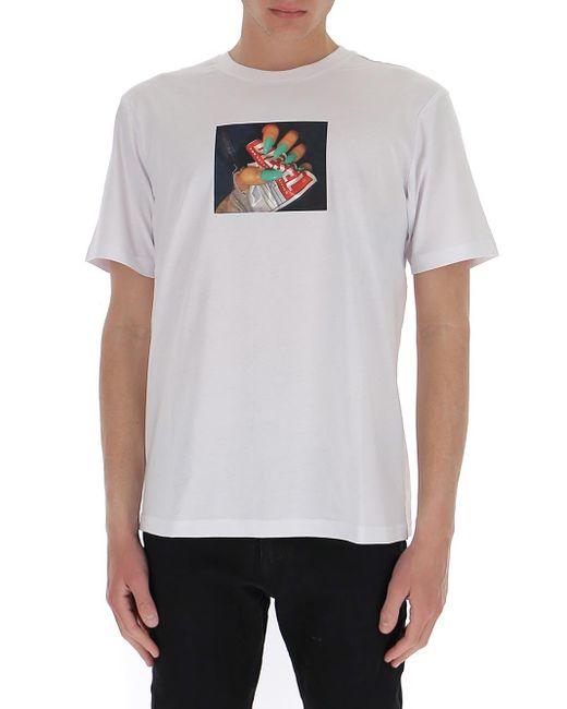 DIESEL White Graphic Print T-shirt for men
