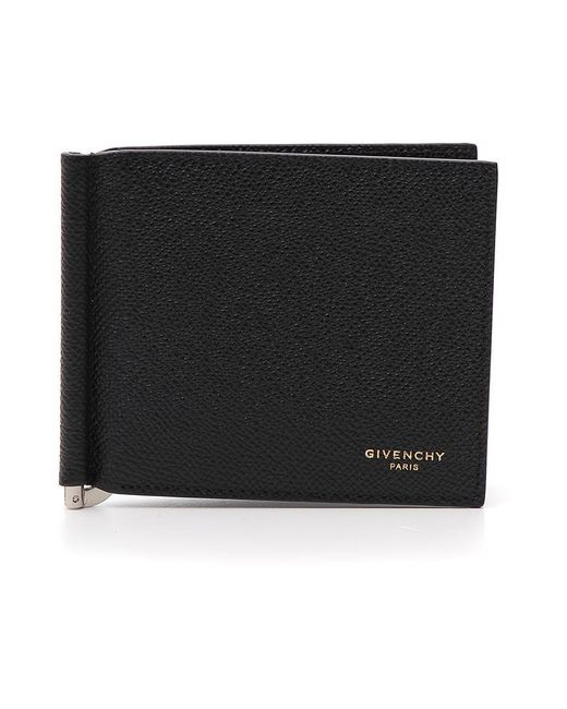 Givenchy - Black Grained Leather Money Clip for Men - Lyst