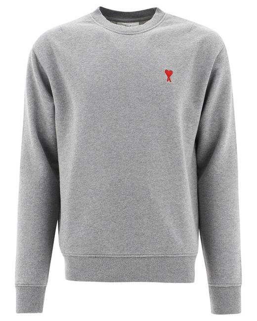 """AMI Gray """"ami De Coeur"""" Sweatshirt for men"""