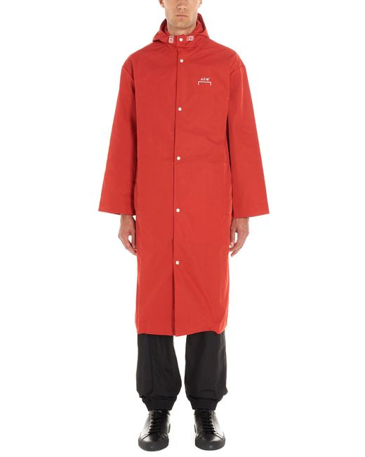 A_COLD_WALL* Red A-cold-wall* Polyester Coat for men