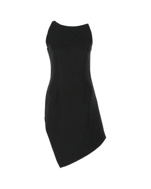 Coperni Black Motion Asymmetric One-shoulder Mini Dress