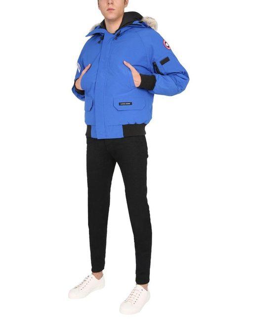 Canada Goose Blue Pbi Chilliwack Bomber Jacket for men
