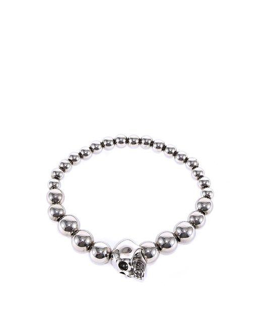 Alexander McQueen - Metallic Beaded Bracelet for Men - Lyst