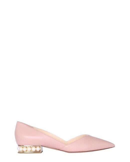 Nicholas Kirkwood Pink Casati D'orsay Ballerinas