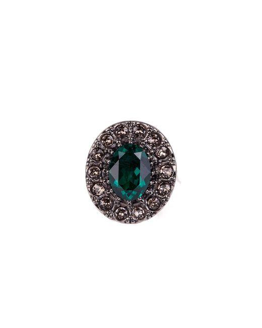 Alexander McQueen - Green Gem Ring - Lyst