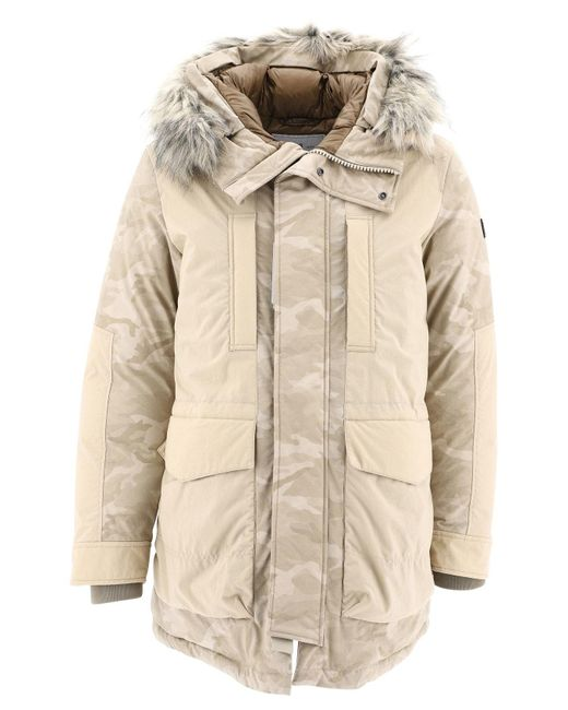 Woolrich Natural Military Parka for men