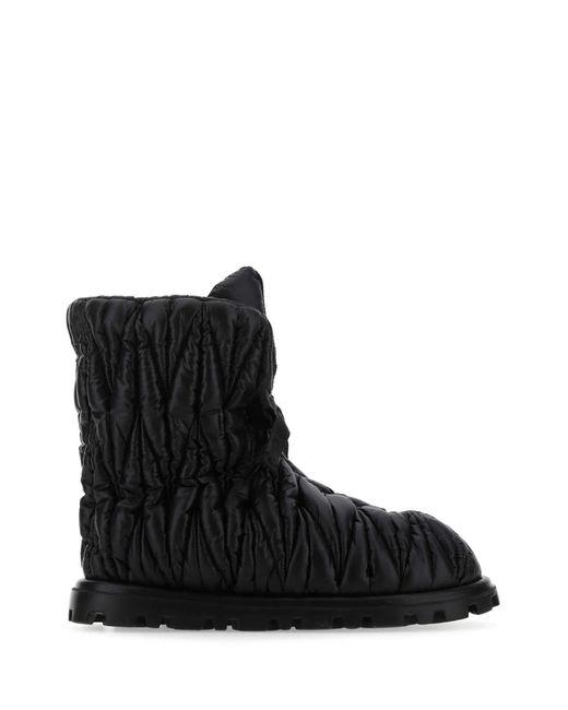 Miu Miu Black Qulited Padded Boots