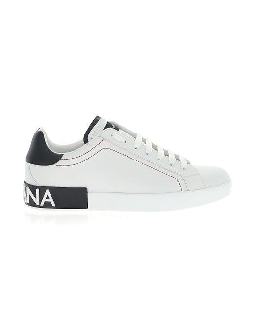 Dolce & Gabbana White Portofino Low-top Sneakers for men