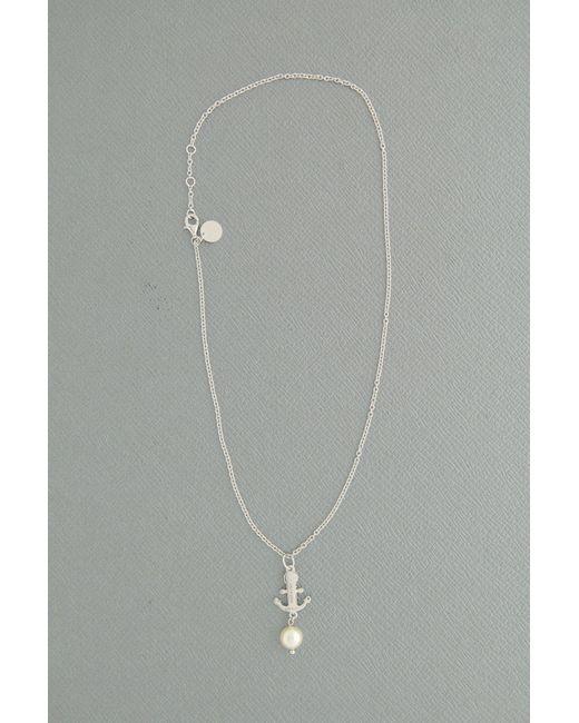 Miu Miu - Metallic Silver Anchor Pendant - Lyst