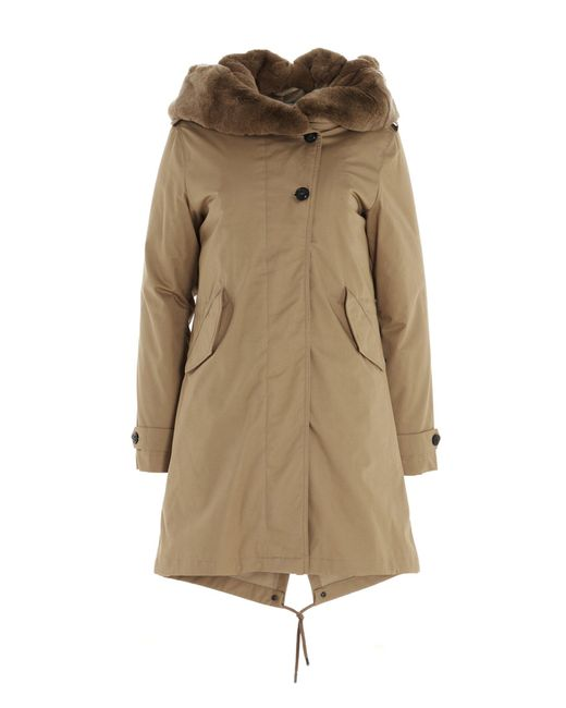 Woolrich Natural Fur Lined Collar Padded Parka