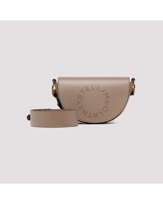 Stella McCartney Natural Marlee Logo Mini Shoulder Bag