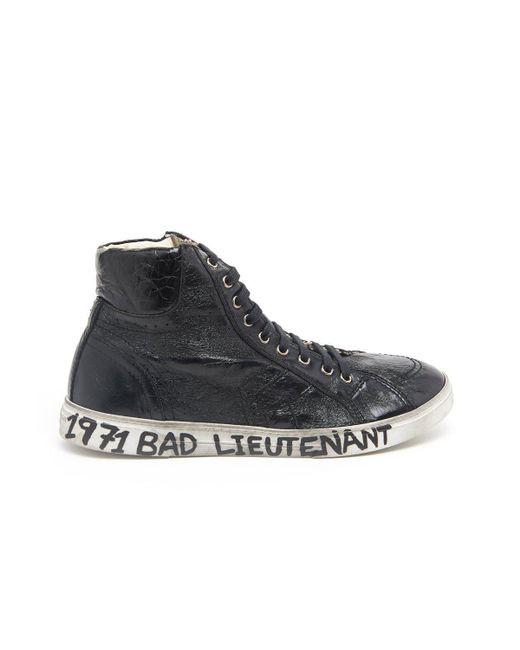 Saint Laurent - Black Joe High Top Sneakers for Men - Lyst