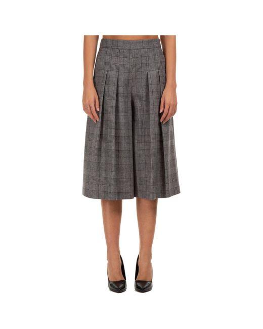 Boutique Moschino Gray Check Pleated Culottes