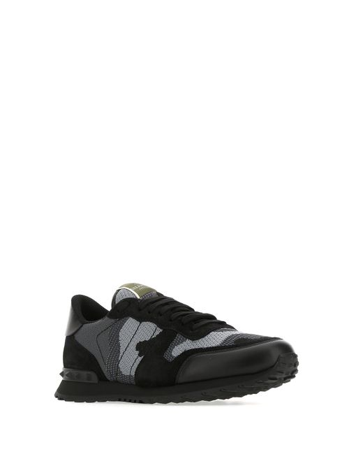 Valentino Multicolor Garavani Camouflage Rockrunner Sneakers for men