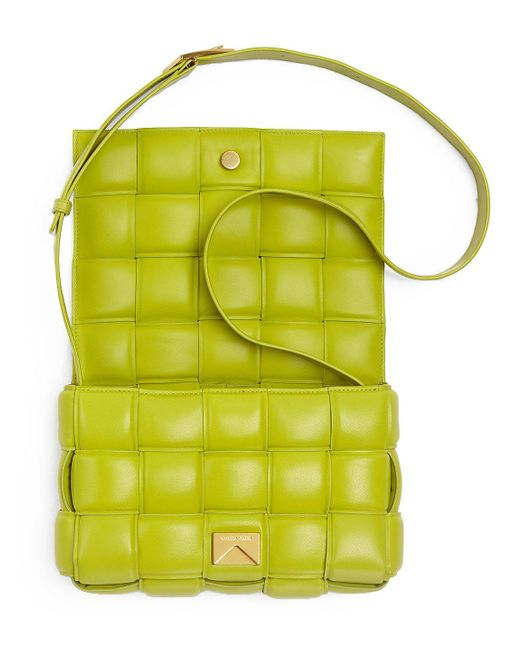 Bottega Veneta Green Padded Cassette Crossbody Bag