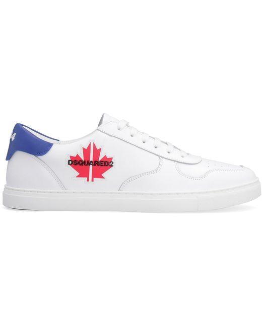 DSquared² White Maple-gym Leather Sneakers for men