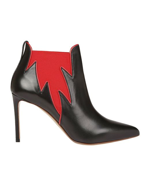 Francesco Russo - Black Contrast Panel Ankle Boots - Lyst