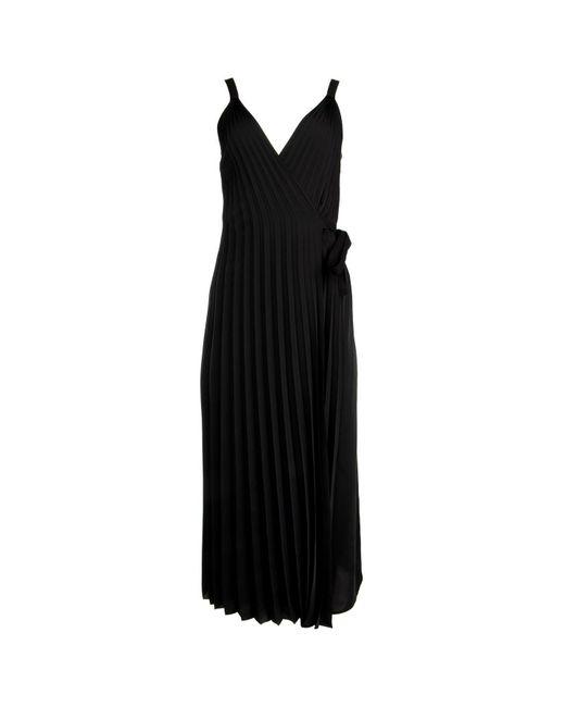 Prada Black Pleated Midi Dress