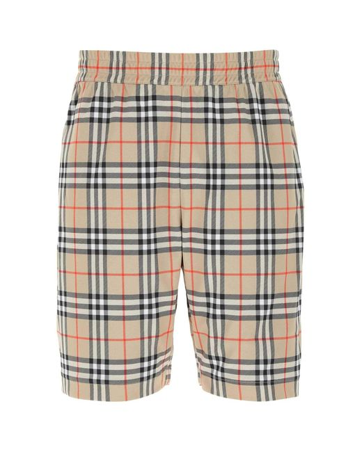 Burberry Multicolor Embroidered Polyester Bermuda Shorts Nd Uomo for men