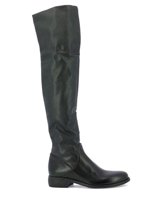 Strategia Black Knee-high Boots