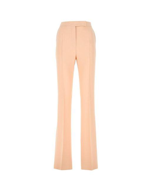 Max Mara Natural Foggia High-waisted Tailored Pants