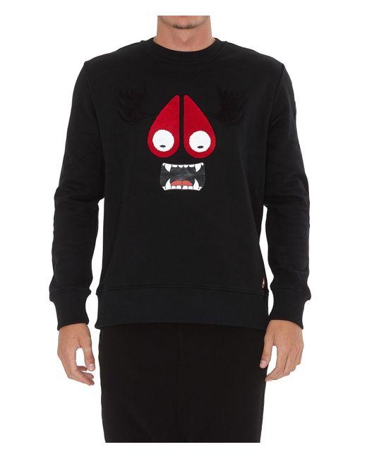 Moose Knuckles Black Moose Munster Sweater for men