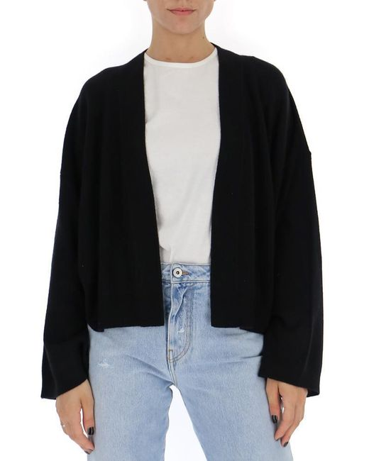Theory Black Open Front Cardigan