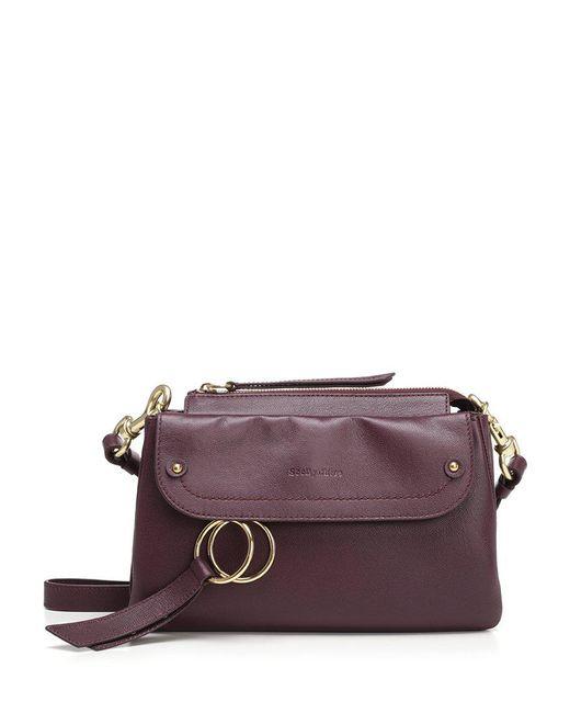 See By Chloé - Purple Foldover Crossbody Bag - Lyst
