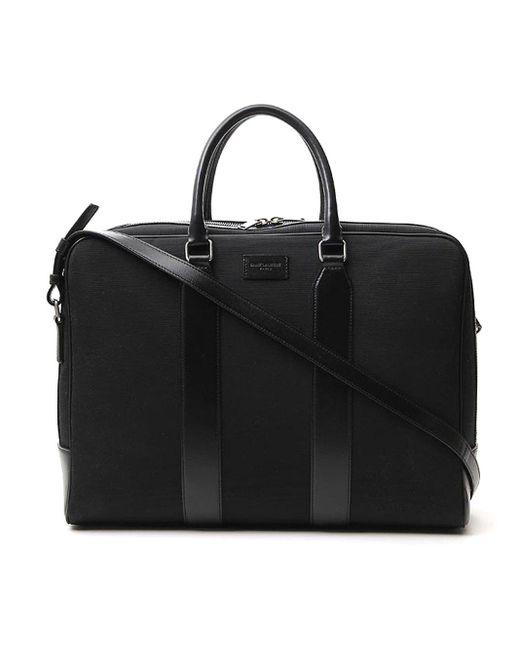 Saint Laurent Black Travel Briefcase for men