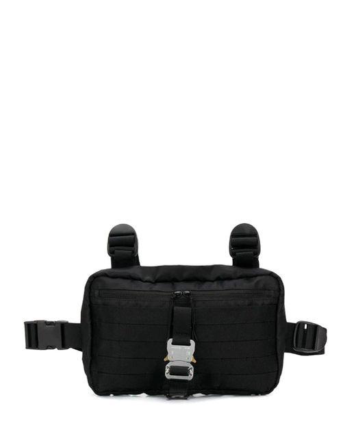 1017 ALYX 9SM Black Buckled Chest Rig Belt Bag for men