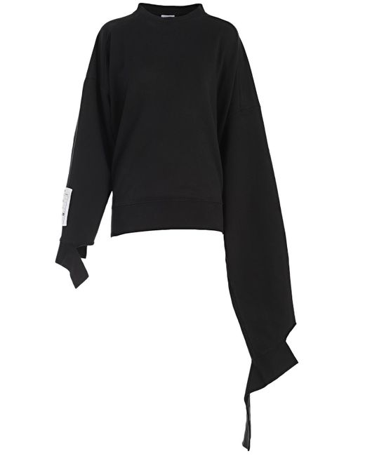 Vetements - Black Asymmetric Sleeve Sweatshirt for Men - Lyst
