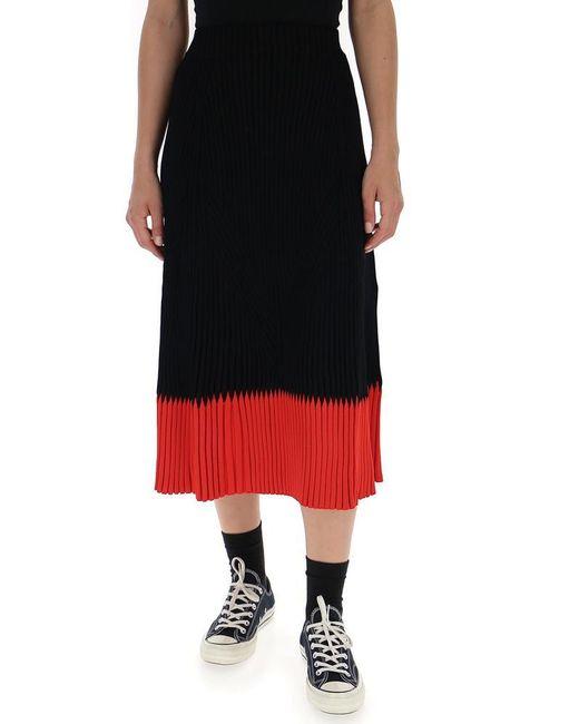 Alexander McQueen - Black Knitted A-line Skirt - Lyst