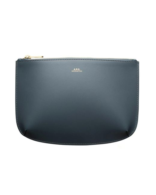 A.P.C. Blue Sarah Clutch Bag