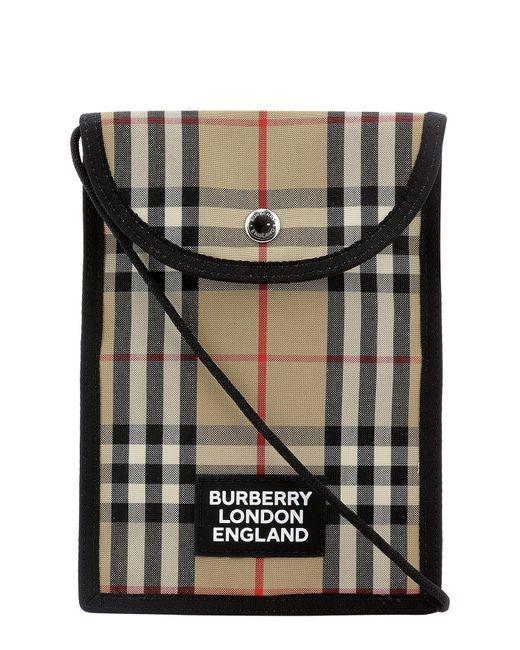 Burberry Multicolor Vintage Check Phone Crossbody Bag for men
