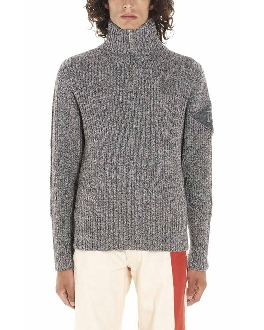 Diesel Red Tag Gray Wool Sweater for men