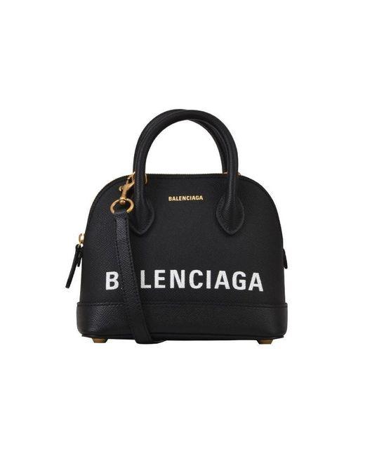 Balenciaga - Black Xxs Ville Tote Bag - Lyst