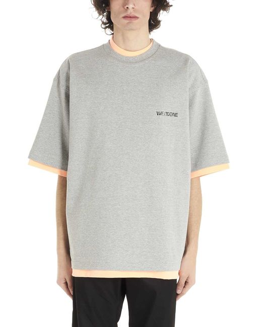 we11done Multicolor Oversized Reversible T-shirt for men