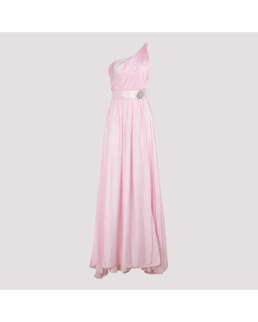 Alexandre Vauthier Pink One-shoulder Draped Dress