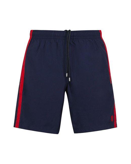 Alexander McQueen Blue Skull Logo Swim Shorts for men