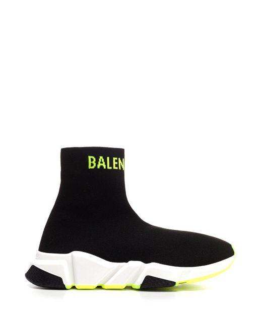Balenciaga Black Speed Stretch-knit Sneakers