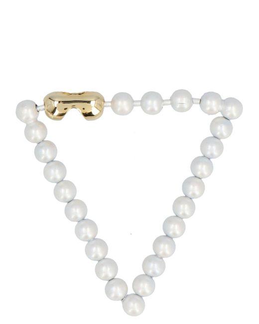 MM6 by Maison Martin Margiela White Pearls Bracelet