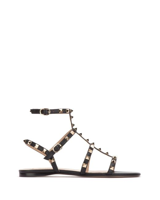 Valentino Garavani Black Valentino Garavani The Rockstud Leather Sandals