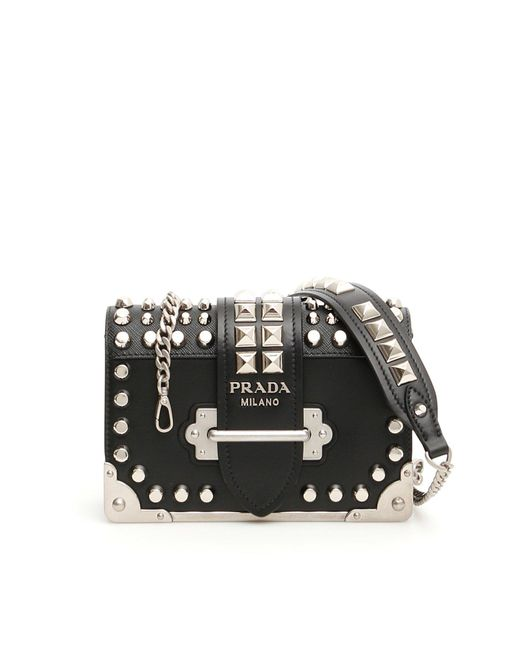 a00f619e4287 Lyst - Prada Cahier Shoulder Bag in Black - Save 50%