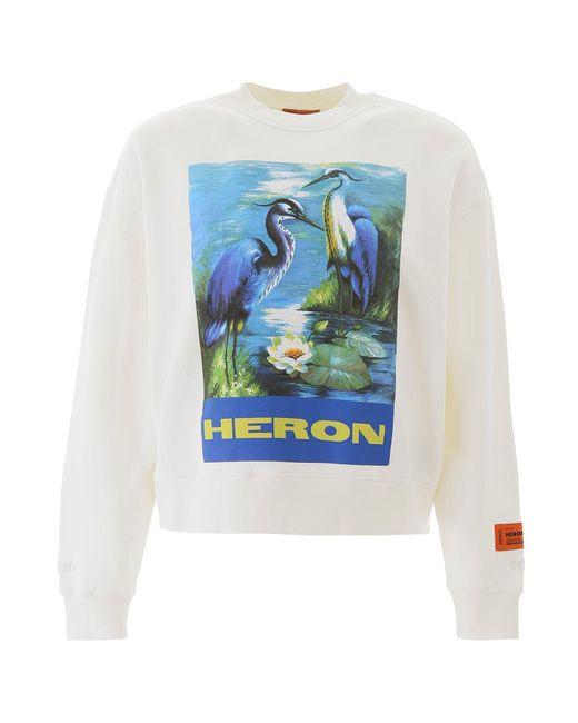 Heron Preston Blue Graphic Print Sweatshirt