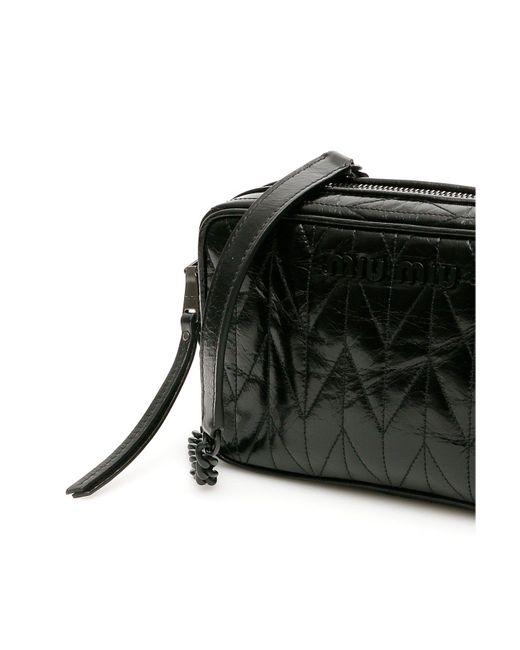 Miu Miu Black Quilted Camera Bag